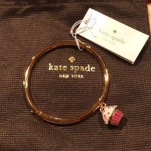 """NWT Kate Spade NY """"Take the Cake"""" cupcake bangle"""
